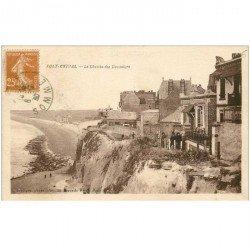 carte postale ancienne 80 AULT. Le Chemin des Douaniers 1930