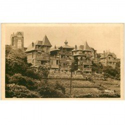 carte postale ancienne 80 AULT. Les Châlets de la Falaise