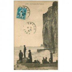 carte postale ancienne 80 AULT. Les Falaises 1921