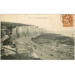 carte postale ancienne 80 AULT. Les Falaises 1927
