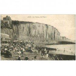 carte postale ancienne 80 AULT. Les Falaises côté Tréport 1932