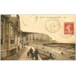 carte postale ancienne 80 AULT. Les Falaises et Casino 1913