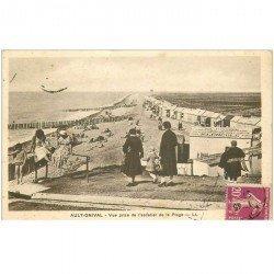 carte postale ancienne 80 AULT. L'Escalier de la Plage