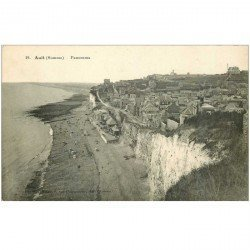 carte postale ancienne 80 AULT. Panorama 1912