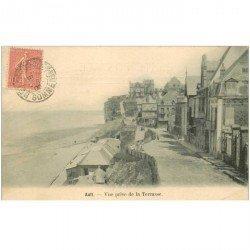 carte postale ancienne 80 AULT. Vue prise de la Terrasse 1905