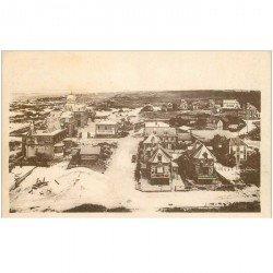 carte postale ancienne 80 CAYEUX-SUR-MER. Colonie Scolaire vue prise du Phare sous la neige