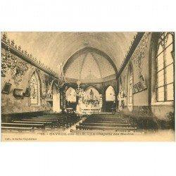 carte postale ancienne 80 CAYEUX-SUR-MER. La Chapelle des Marins intérieur