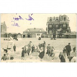 carte postale ancienne 80 CAYEUX-SUR-MER. La Grève et les Châlets 1908