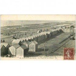 carte postale ancienne 80 CAYEUX-SUR-MER. La Plage vue du Casino 1927