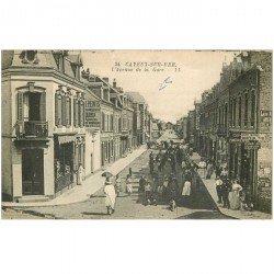 carte postale ancienne 80 CAYEUX-SUR-MER. Laboratoire Photographie Avenue de la Gare 1921