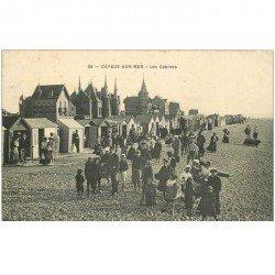 carte postale ancienne 80 CAYEUX-SUR-MER. Les Cabines 1908
