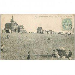 carte postale ancienne 80 CAYEUX-SUR-MER. Les Galets à Marée basse vers 1907