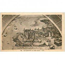 carte postale ancienne 80 LE CROTOY au XIII siècle