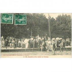 carte postale ancienne 80 LE CROTOY. Baptême d'un Canot de Marins et Pêcheurs 1908. Métiers de la Mer