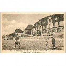 carte postale ancienne 80 LE CROTOY. Casino et Hôtel Bonne Maman 1937