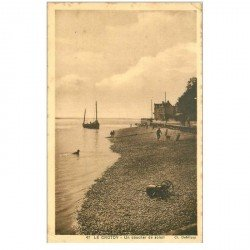carte postale ancienne 80 LE CROTOY. Un coucher de Soleil vers 1935