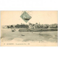 carte postale ancienne 80 LE CROTOY. Vue générale du Port 1924