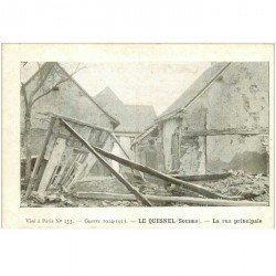 carte postale ancienne 80 LE QUESNEL. La Rue principale bombardée