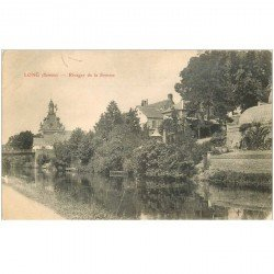 carte postale ancienne 80 LONG. Rivages de la Somme 1904. Timbre absent