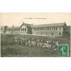 carte postale ancienne 80 MERS LES BAINS. La Colonie Scolaire 1909