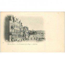 carte postale ancienne 80 MERS LES BAINS. Les Promenades de la Plage