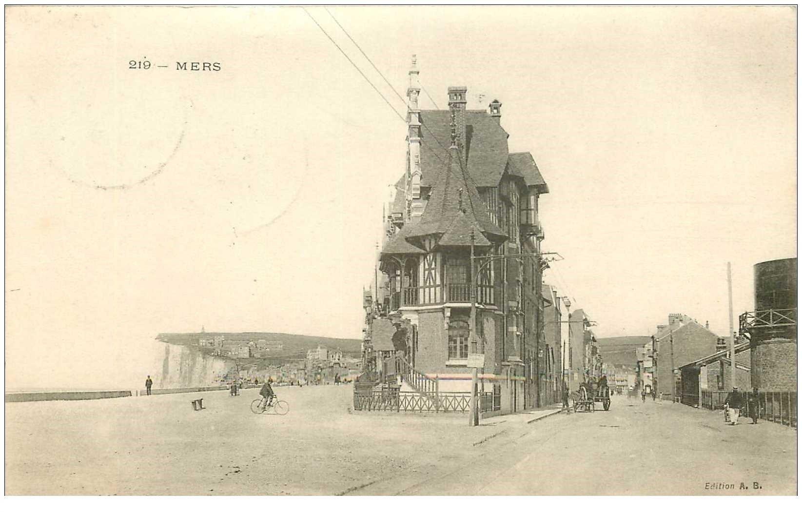 carte postale ancienne 80 MERS-LES-BAINS. 1907