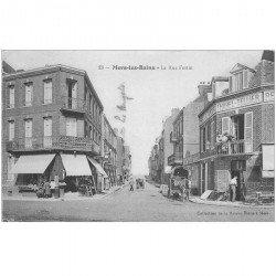 carte postale ancienne 80 MERS-LES-BAINS. Au Chic Parisien Rue Fortin et Café de l'Avenir