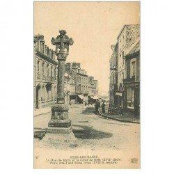 carte postale ancienne 80 MERS-LES-BAINS. Croix de Grès Rue de Paris 1922