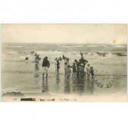 carte postale ancienne 80 MERS-LES-BAINS. La Plage 1918