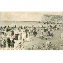 carte postale ancienne 80 MERS-LES-BAINS. La Plage sur le Sable 1905