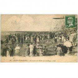 carte postale ancienne 80 MERS-LES-BAINS. La Plage sur le Sable Concours 1924