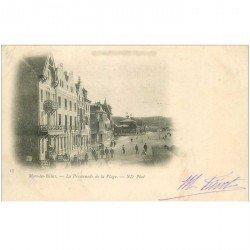 carte postale ancienne 80 MERS-LES-BAINS. La Promenade de la Plage vers 1900