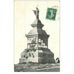 carte postale ancienne 80 MERS-LES-BAINS. La Vierge de la Falaise 1908