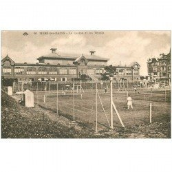 carte postale ancienne 80 MERS-LES-BAINS. Le Casino et les Tennis