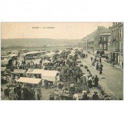 carte postale ancienne 80 MERS-LES-BAINS. Le Marché 1905