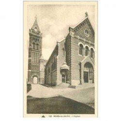 carte postale ancienne 80 MERS-LES-BAINS. L'Eglise CAP 130