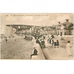 carte postale ancienne 80 MERS-LES-BAINS. L'Esplanade Casino et Plage