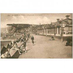 carte postale ancienne 80 MERS-LES-BAINS. L'Esplanade et Casino