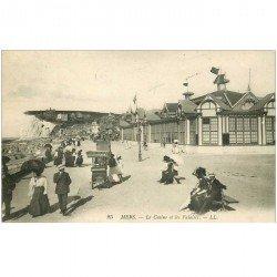 carte postale ancienne 80 MERS-LES-BAINS. Marchand de glaces ambulant vers le Casino vers 1915