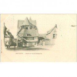 carte postale ancienne 80 MONTDIDIER. 1901 Abside Eglise Saint-Sépulcre