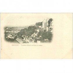 carte postale ancienne 80 MONTDIDIER. 1901 Palais de Justice Faubourg Saint-Martin
