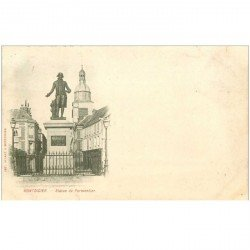 carte postale ancienne 80 MONTDIDIER. 1901 Statue de Parmentier