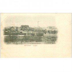 carte postale ancienne 80 MONTDIDIER. 1901 Train dans la Gare