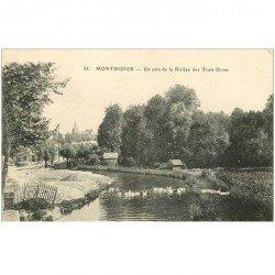 carte postale ancienne 80 MONTDIDIER. Canards sur un coin de Rivière des Trois Doms