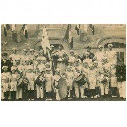 carte postale ancienne 80 MONTDIDIER. Célébration Jeanne d'Arc avec la Fanfare. Photo carte postale rare