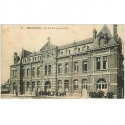 carte postale ancienne 80 MONTDIDIER. Ecolières Ecole Libre Jeanne d'Arc