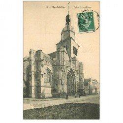 carte postale ancienne 80 MONTDIDIER. Eglise Saint-Pierre animation