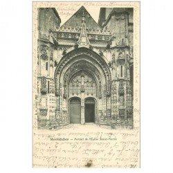 carte postale ancienne 80 MONTDIDIER. Eglise Saint-Pierre le Portail 1904