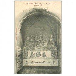 carte postale ancienne 80 MONTDIDIER. Eglise Saint-Sépulcre ensevelissement du Christ