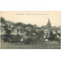 carte postale ancienne 80 MONTDIDIER. Faubourg Becquerel Eglise Saint-Pierre